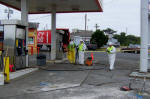 gas station cleanup